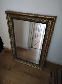 Large mirror, gold ornate edge
