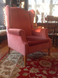 Two Wing Back Armchairs