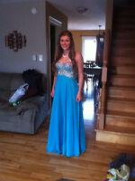 Prom Dress, Size 6, Color: Sea