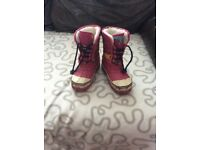 Girls snow boots from Joules size 10
