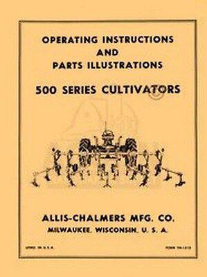 Allis Chalmers 500 Series Cultivator Operators Manual