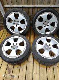 17 inch 5x1112 Audi alloy wheels