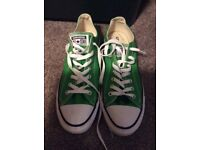 Green Converse All-Stars size 10
