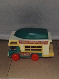 VINTAGE FISHER PRICE CAMPER VAN 1980's