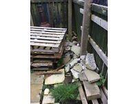 Rubble / broken paving slabs