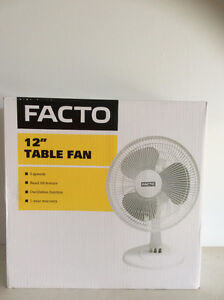 """12"""" and 16"""" table fans and floor fans for sale"""