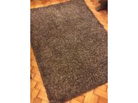 Purple luxury shaggy rug