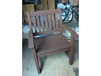 Wooden garden chair very sturdy