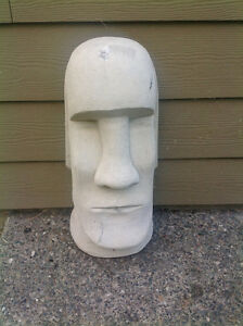 Concrete Easter Island Head