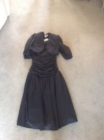 Black 3/4 length prom dress with matching jacket
