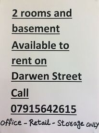 2 rooms & basement available to rent