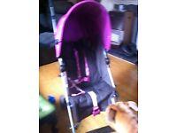 Girls purple buggy