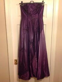 Prom dress purple Morgan and Co