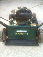 5.0Hp Mulcher/Bagger/Side-Discharge Push Mower.