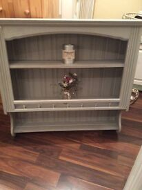Shabby chic solid wall unit