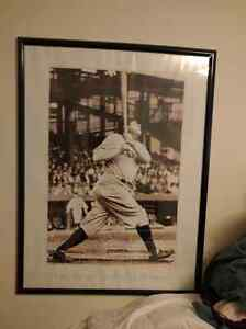 2 Babe Ruth Framed Posters