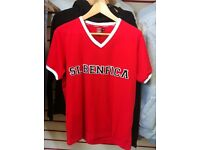 V neck benfica official merchandise t shirt