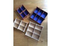 Four storage boxes /trays