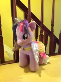 My Little Pony Build-a-Bear Plush Toy Teddy with Clothes.