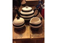 Tea pot, sugar and milk jug set