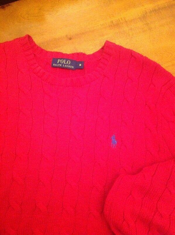 Men's Polo Ralph Lauren Red Jumper Size M