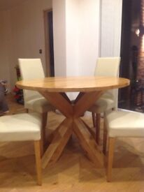 *Round dining table from Next + 4 chairs
