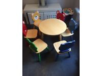 Pintoy table and 6 chairs