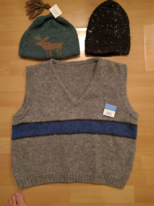 Knitted Sweaters and Hats