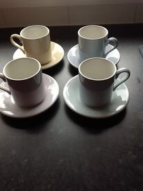 Portmeirion coffee cups and saucers