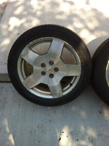 225/50 18 Tires on Chevy rims