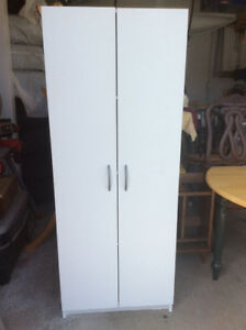 White storage cupboard