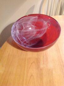 Heavy glass bowl