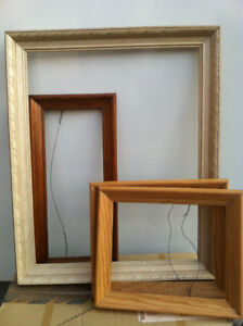 4 solid wood picture frames