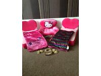 Build a bear beds, chair and accessories bundle .