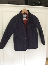 Boys Next quilted Jacket Navy Blue Age 9