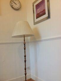60's metal ( brass ?) standard lamp