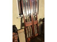 Solid Bi-Fold MAHOGANY Glazed DOORS- Excellent Condition & Well Made - per Pair