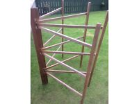 ANTIQUE ORIGINAL WOODEN CLOTHES HORSE