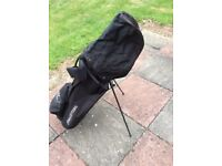 John Letters stand golf bag with rain cover