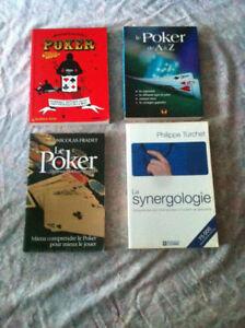 20$ - 3 livres sur le poker et 1 sur la synergologie