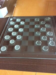 Glass Chess and Checkers Cambridge Kitchener Area image 3