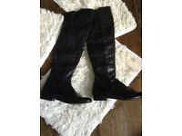 Leather high leg boots 7
