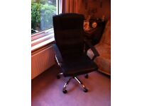 Leather office chair £25