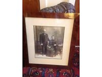 Antique Victorian rosewood framed photograph