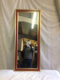 Gold frame mirror