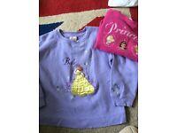 Disney Store girls Belle & princess Fleece jumpers