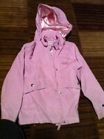 Light pink rain coat 5T