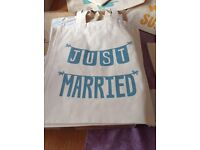 Just Married Brand new cotton shopping bag