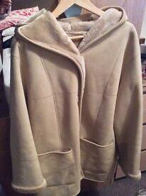 Cream suede coat