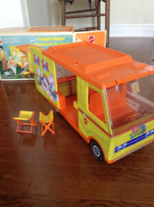 Vintage barbie camper van from 1972